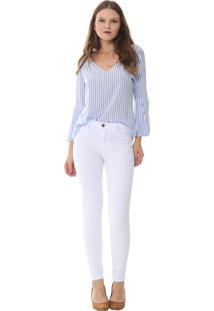 176d45be3 ... Calça Jeans Sawary Cigarrete Branco