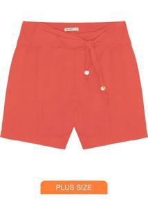 Shorts Feminino Plus Size Telha