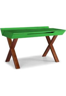 Escrivaninha Studio Cor Cacau Com Verde - 28950