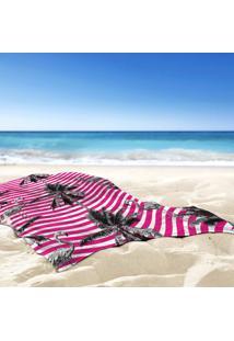 Toalha De Praia / Banho Tropical Flamingos Pink