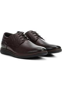 Sapato Couro Casual Ferracini Trindade Masculino - Masculino-Tabaco