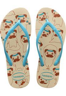 Chinelo Feminino Slim Pets Havaianas 8486