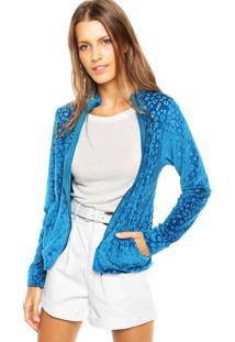 Jaqueta Malwee Estampada Azul