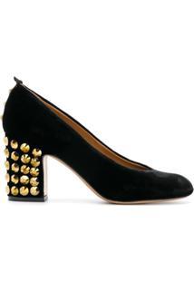 b7e6fb10ac ... Emporio Armani Sapato De Couro E Veludo - Preto