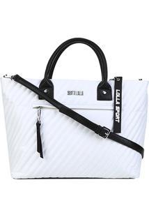Bolsa Santa Lolla Shopper Nylon Feminina - Feminino-Branco