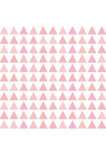 Adesivo De Parede Triangulos Tons De Rosa 121Un