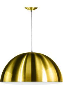 Lustre Pendente Meia Lua 40Cm Alumínio Dourado Magnifico!!