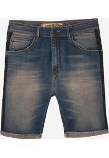 Bermuda John John Rock Panama 3D Jeans Azul Masculina (Jeans Medio, 42)