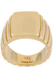 I.V.I. Signore Rectangular Signet Ring - Dourado