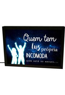 Luminária Prolab Gift Lightbox Luz Própria Preta