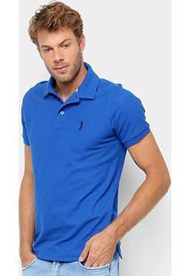 Camisa Polo Aleatory Piquet Masculina - Masculino-Azul Royal