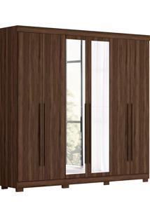 Guarda-Roupa Casal 6 Portas Com Espelho Belém Fosco-Móveis Albatroz - Cedro