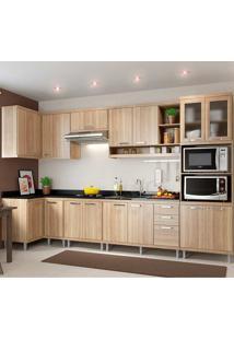 Cozinha Compacta 7 Peças Sicília 5830-S15 - Multimóveis - Argila Acetinado