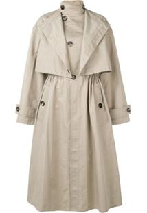 Bottega Veneta Trench Coat Oversized - Marrom