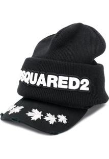 Dsquared2 Gorro Com Logo - Preto