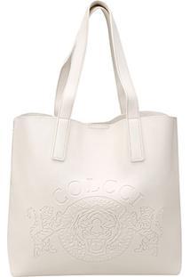 596b1d119 ... Bolsa Colcci Shopper Brasão Feminina - Feminino-Off White