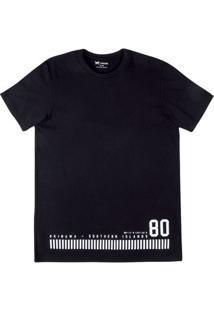 Camiseta Masculina Alongada Em Malha De Algodão Estampada