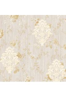 Papel De Parede Arabescos- Rosê & Dourado- 1000X52Cmshark Metais