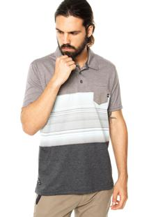 Camisa Polo Oakley Blocked Cinza