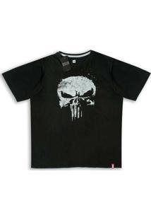Camiseta Marvel Justiceiro Skull - Unissex