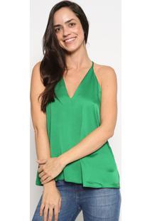 Blusa Nadador Acetinada- Verde- Colccicolcci