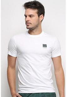 Camiseta Lacoste Manga Curta Masculina - Masculino-Branco