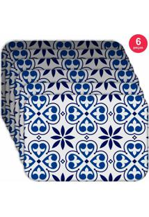 Jogo Americano Love Decor Wevans Premium Ladrilho Kit Com 6 Pçs