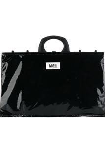 Mm6 Maison Margiela Bolsa Tote Com Patch De Logo - Preto