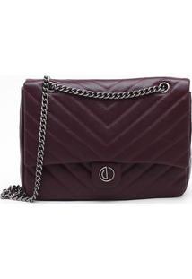 Bolsa Shoulder Bag Couro Bordeaux - M