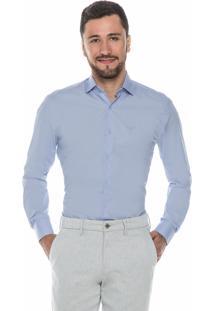 Camisa Social Lisa Hugo Rossi Azul