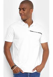 Camisa Polo Calvin Klein Estampada Logo Masculina - Masculino