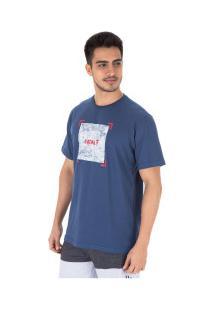 Camiseta Fatal Estampada 22094 - Masculina - Azul Escuro