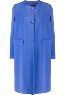 Emporio Armani Casaco Com Abotoamento - Azul