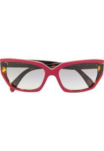 Prada Eyewear Óculos De Sol Pr15Xs - Vermelho