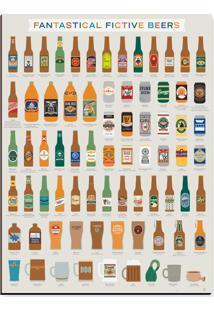 Quadro Adoraria Placa Mdf Beers Bege
