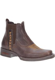 Bota Couro Fazenda Boots 23448 Masculina - Masculino-Cafe