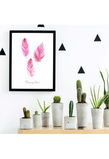 Quadro Decorativo Com Moldura Hair Flamingo