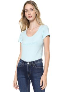 Blusa Calvin Klein Jeans Lettering Azul