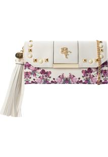 Carteira Be Forever Floral Branco