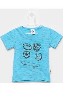 Camiseta Infantil Andritex Malha Skate Masculina - Masculino