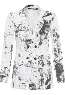 Blazer Feminino Cotton - Branco