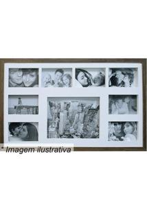 Painel Para 9 Fotos- Marrom & Branco- 43X68X3Cmkapos