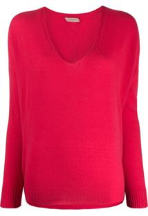 Twin-Set V-Neck Jumper - Rosa