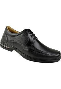 Sapato Social Cadarço Rafarillo Masculino - Masculino-Preto