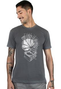 Camiseta Bleed American Turntable Chumbo
