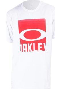 Camiseta Oakley Cut Mark Tee Masculina - Masculino-Branco