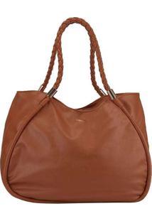 Bolsa Shopping Bag Gabriela Detalhe Em Aplicações