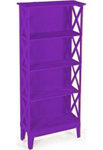 Cristaleira Colonial 2 Portas Atz 81 - Roxo