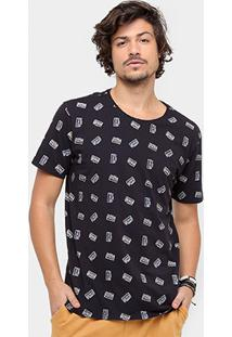 Camiseta Redley Mini Print Masculina - Masculino