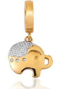 Pingente De Ouro 18K Charms De Elefante